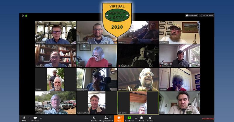 mend_recce virtual meetup 2020 zoom