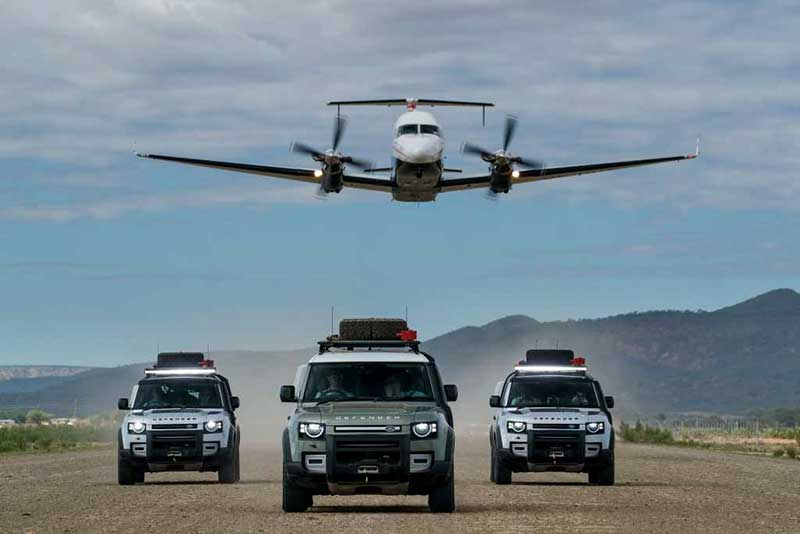 New Land Rover Defender In Namibia