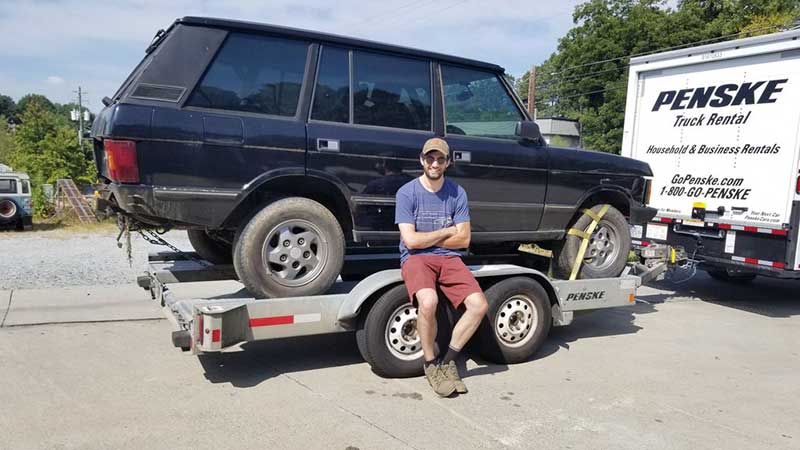 Greg With His New To Him Range Rover Classic