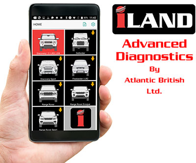 iLAND diagnostic app on phone