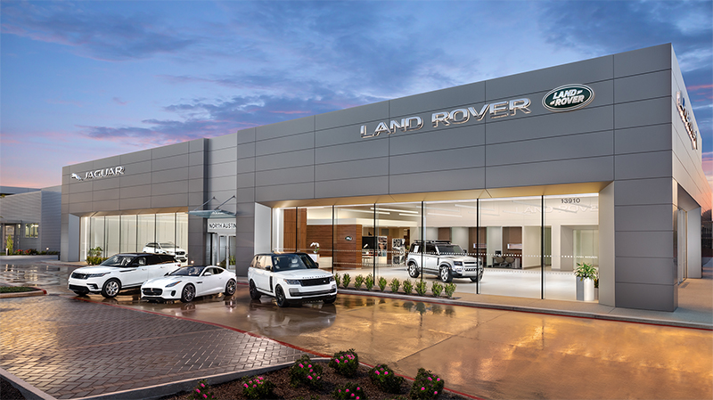 exterior of JLR dealership