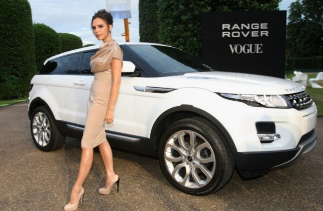 Beckham in front of Range Rover