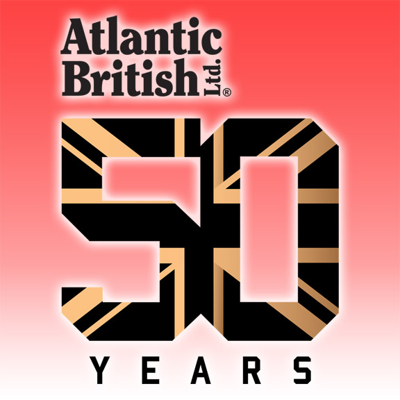 Atlantic British 50-Year Anniversary Logo