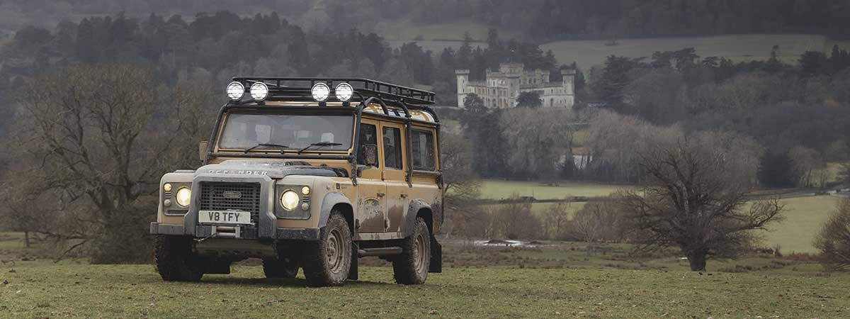 A Land Rover Defender 110 Works V8 Trophy
