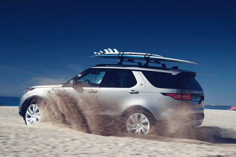 Land Rover Discovery 5 Driving Through Surf