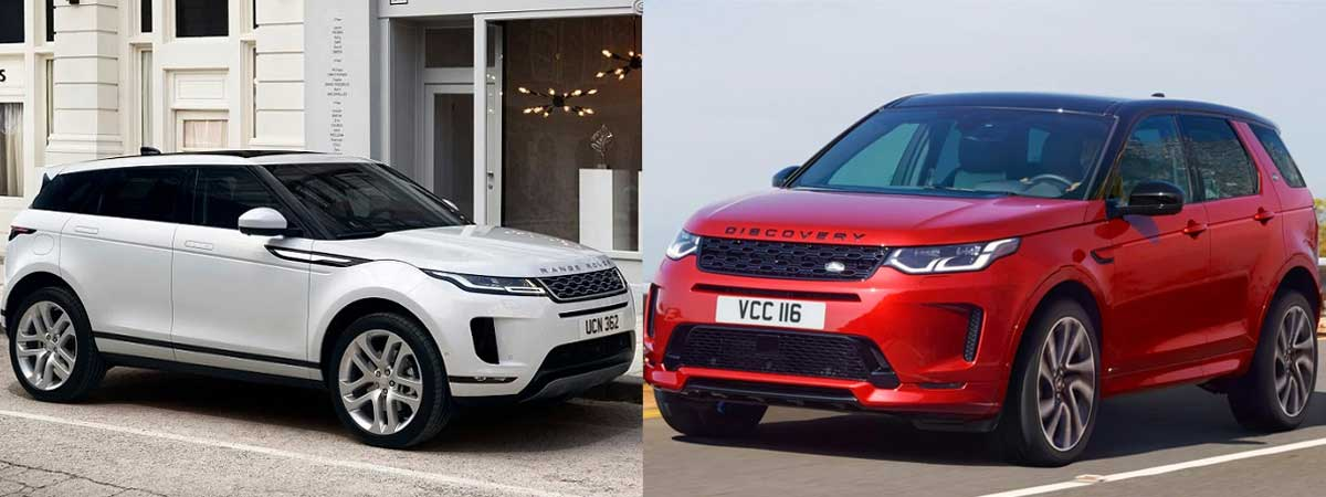 the current Range Rover Evoque and Discovery Sport