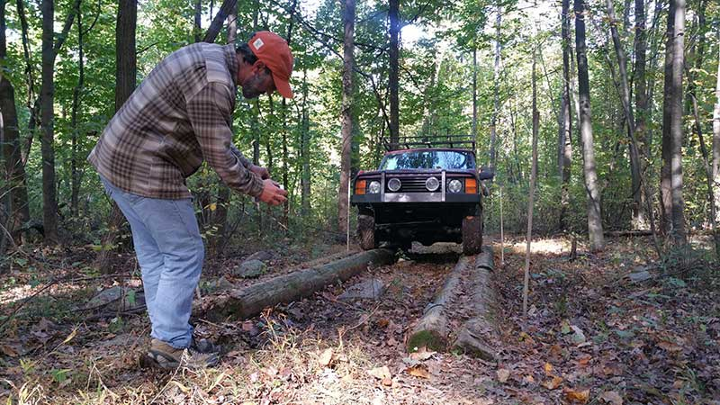 Action shot of one of the Robesonia Trials