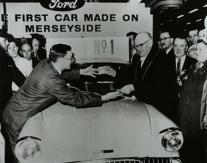 first car off Halewood production line