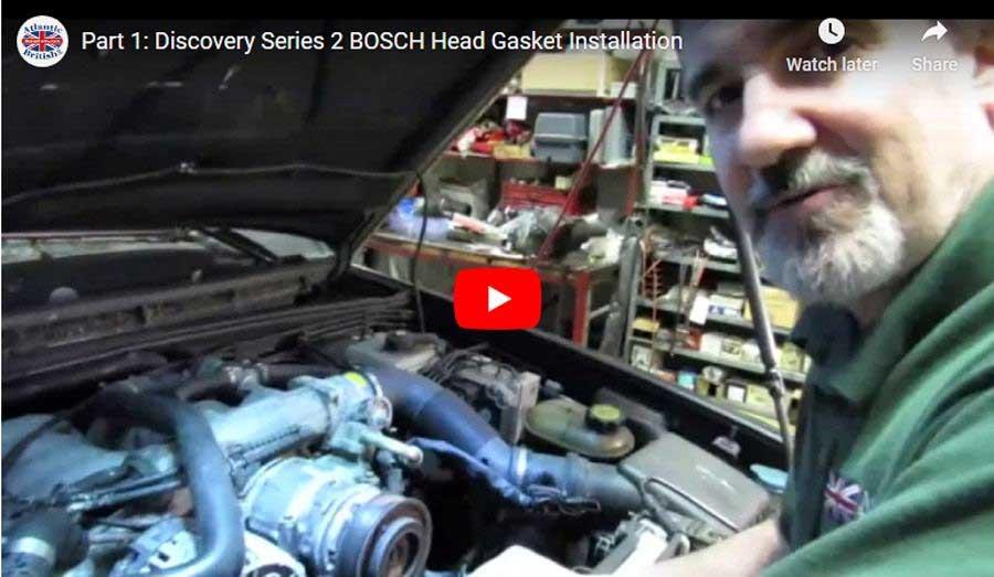head gasket install video Land Rover Bosch engine part 1