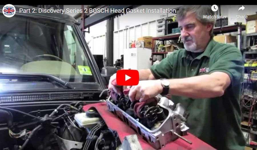 head gasket install video Land Rover Bosch engine part 2