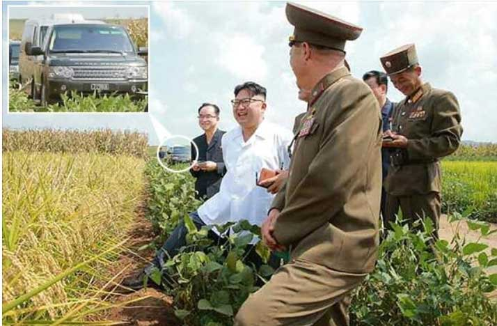 Range Rover in caravan of Kim Jung Un