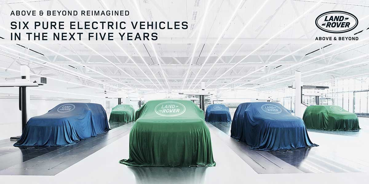 Land Rover models due for electrification under silk covers