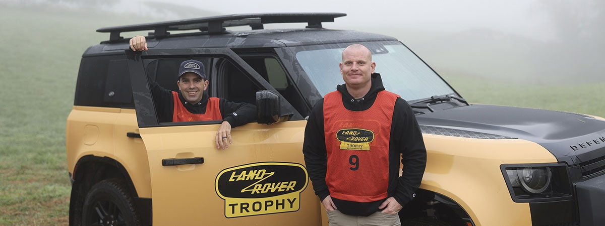 Jonathan Steppe and Max Thomason winners of the Land Rover Trophy USA
