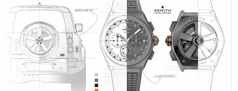 Land Rover Zenith Watch Graphic
