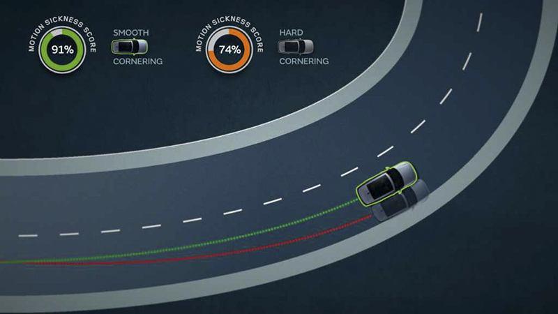 Land Rover autonomous vehicles motion sickness project