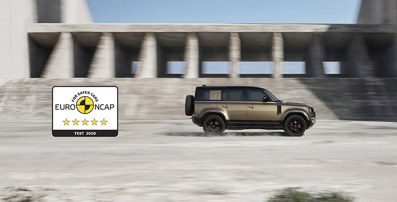 defender Euro NCAP rating banner
