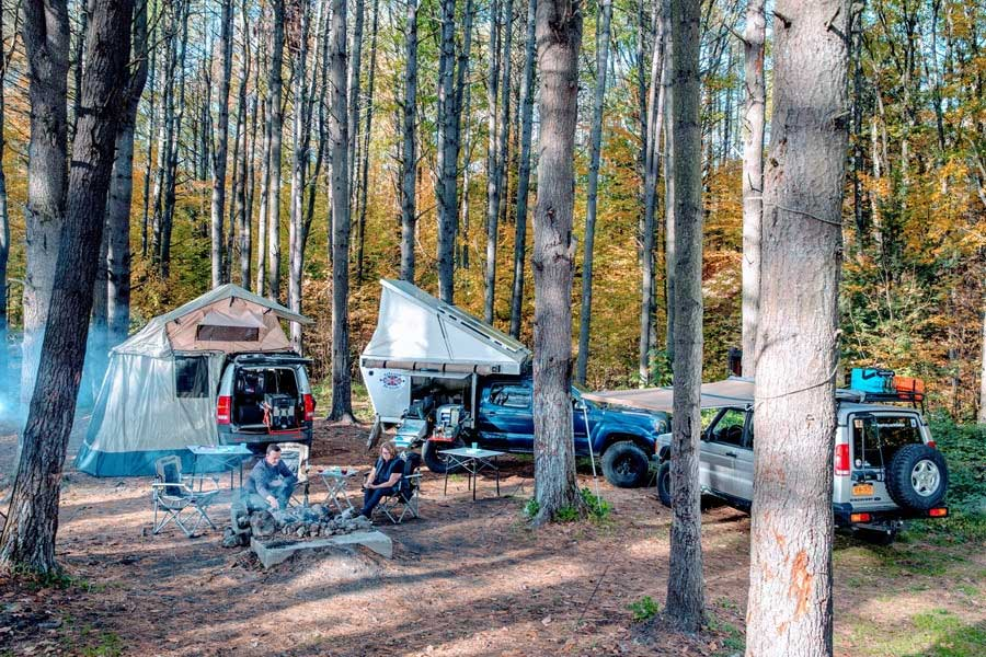overland camp woods