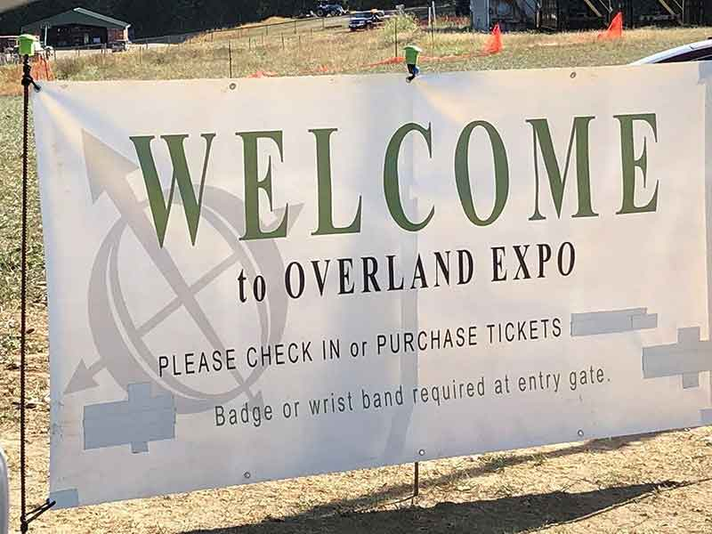 Welcome To Overland East Sign