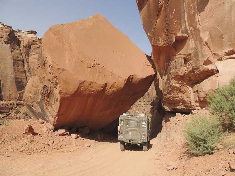 Oxford the Land Rover at MOAB