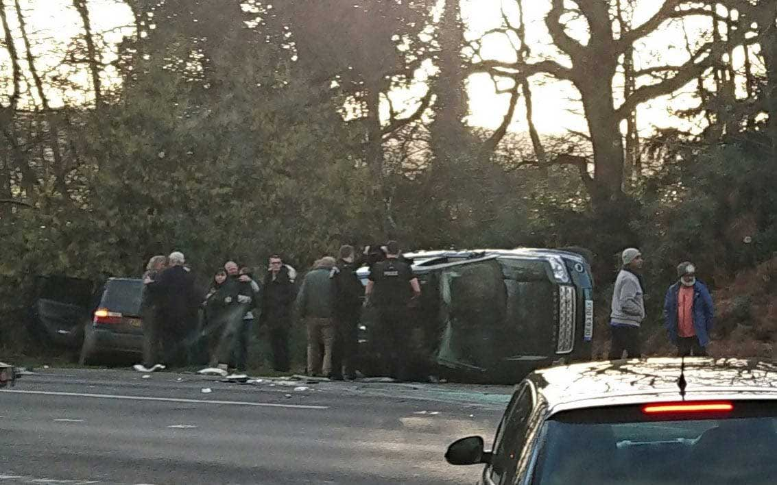 Prince Philip's Land Rover after crash