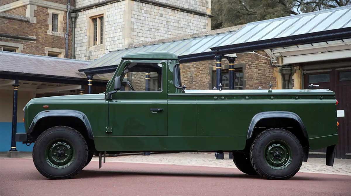 Land Rover for Prince Philip's funeral