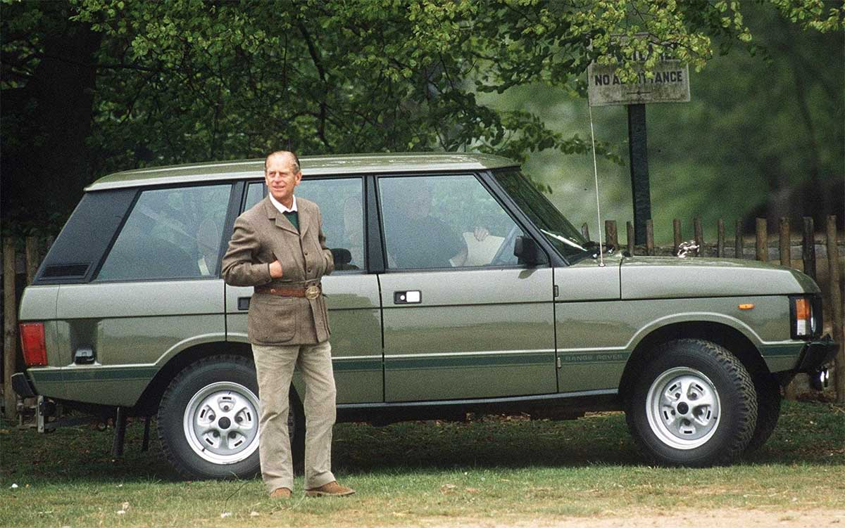 Prince Philip and his Range Rover Classic