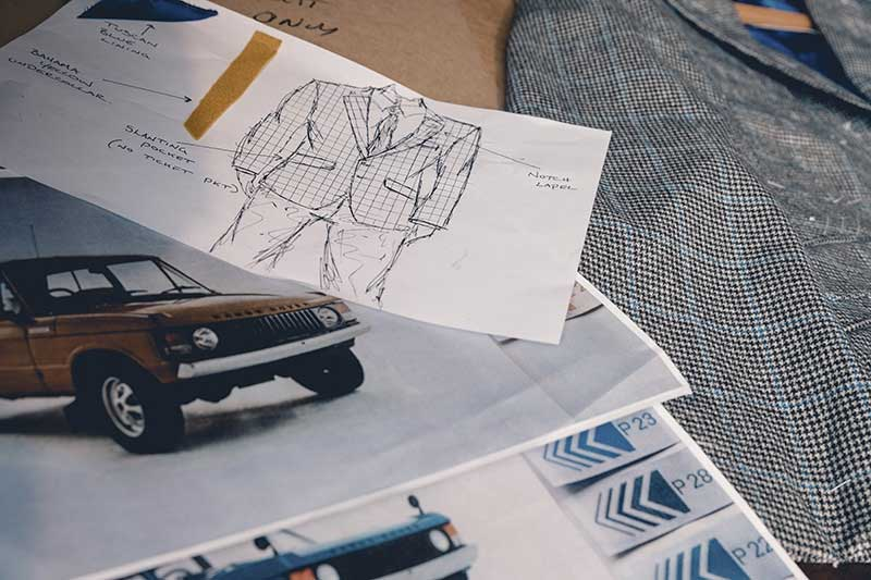 Clothier Henry Poole & Co. Range Rover inspired design