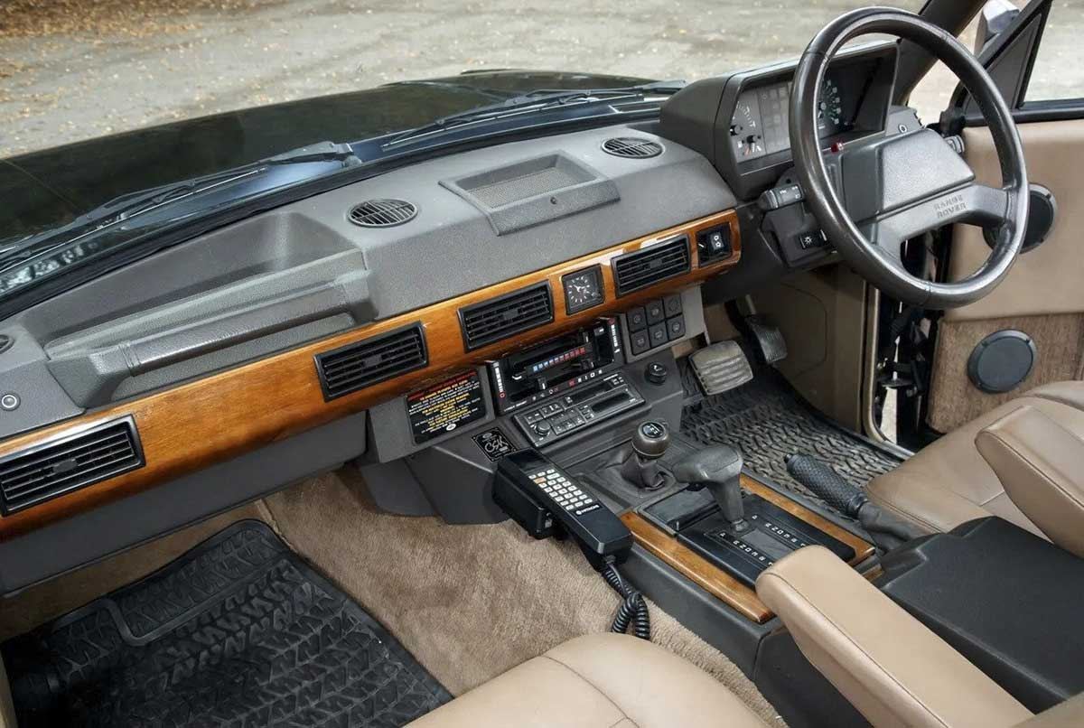 Range Rover CSK footwell and console