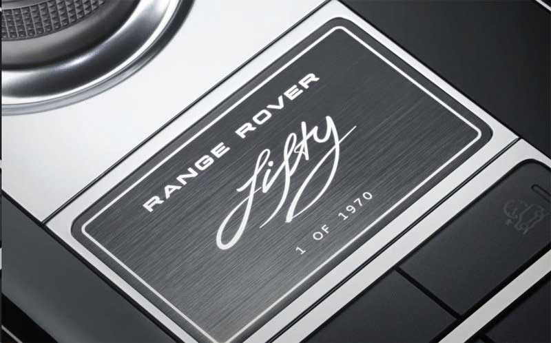 Range Rover 50 logo interior trim