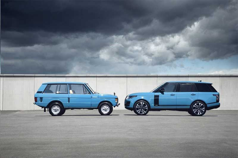 Range Rover Fifty vehicles tuscan blue