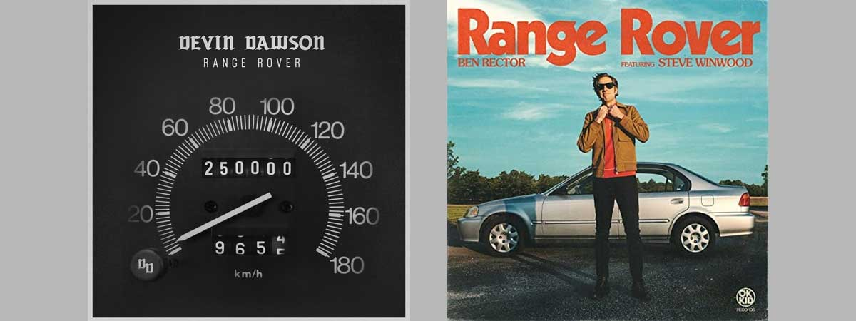 the covers of the two single versions of the new song Range Rover