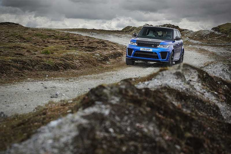Range Rover Sport SVR riding trails