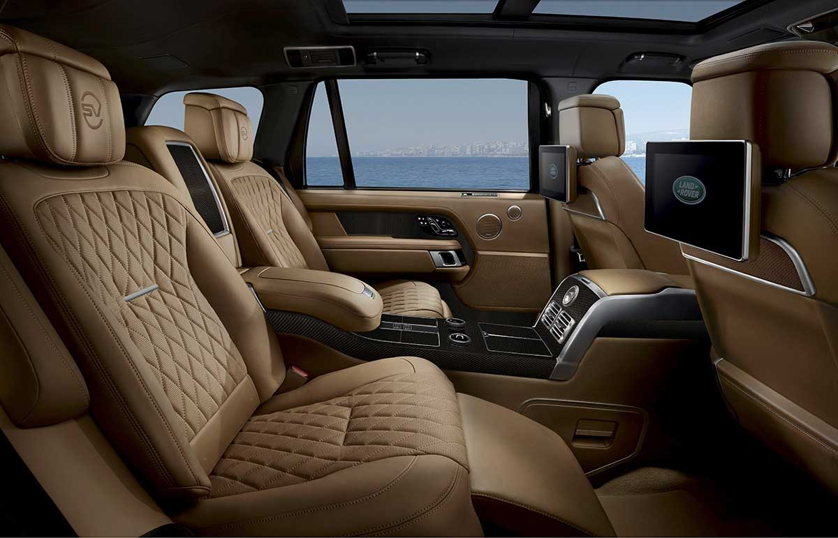 Range Rover SV Bespoke Ultimate Edition rear seats