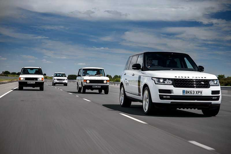 All generations of Range Rovers