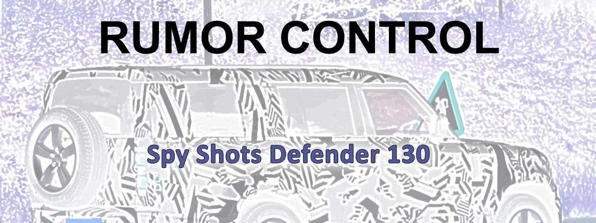 rumor control Spy Shots, Unsubstantiated Theories, and Random Rumblings