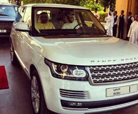 Sheikh Mohammed and his Range Rover