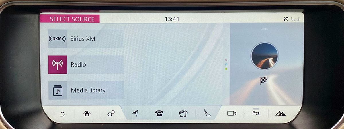 Sirius XM car screen