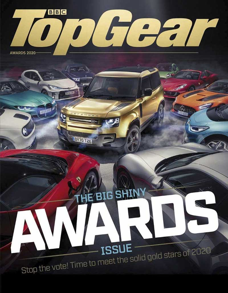 Top Gear magazine cover - Defender is car of the year
