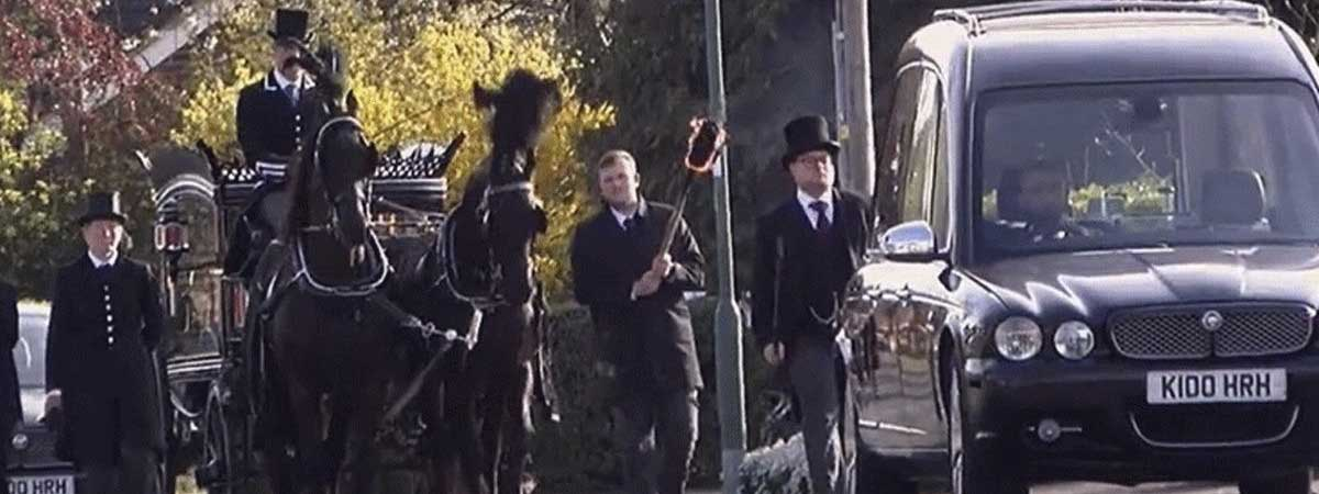 a Victorian Style funeral procession