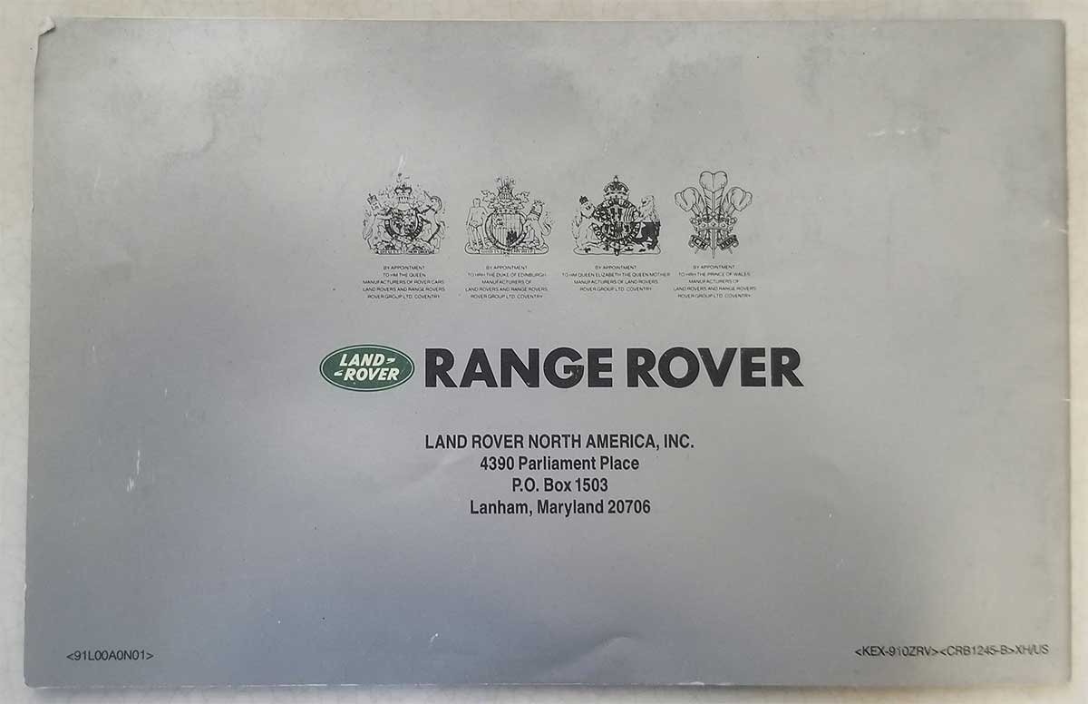 Royal Warrant for Land Rover
